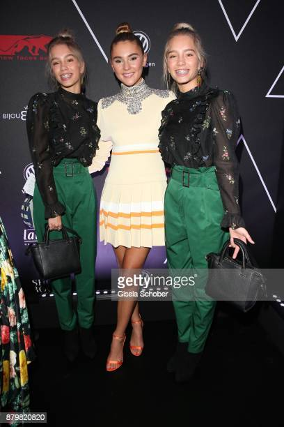 Lisa and Lena Influencer of the year and Model and influencer Stefanie Giesinger during the New Faces Award Style 2017 at 'The Grand' hotel on...