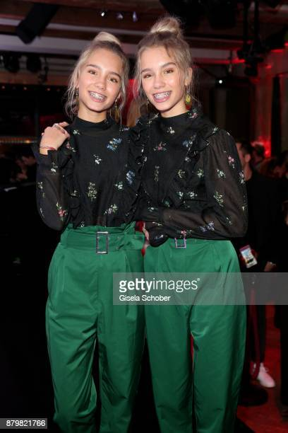 Lisa and Lena Influencer of the year during the New Faces Award Style 2017 at 'The Grand' hotel on November 15 2017 in Berlin Germany