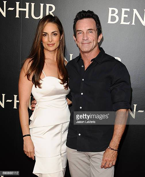 Lisa Ann Russell and Jeff Probst attend the premiere of 'BenHur' at TCL Chinese Theatre IMAX on August 16 2016 in Hollywood California