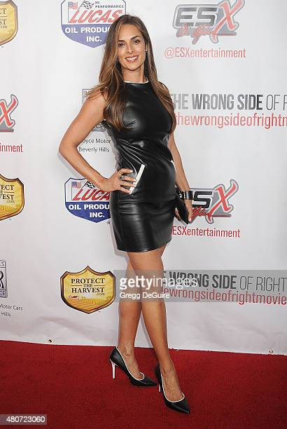 Lisa Ann Russell arrives at the premiere of ESX Productions' 'The Wrong Side Of Right' at TCL Chinese Theatre on July 14 2015 in Hollywood California