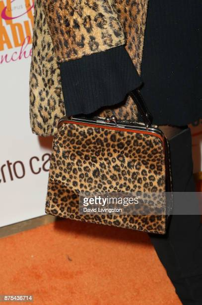 Lisa Ann Walter purse detail arrives at the Lupus LA 15th Annual Hollywood Bag Ladies Luncheon at The Beverly Hilton Hotel on November 17 2017 in...
