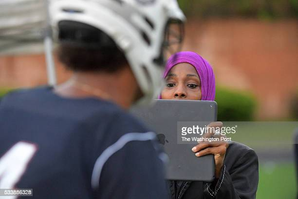 Lisa Arenas video tapes her son Bowie's Hazma AbdusSalaam who will play at Hampton May 23 2016 in Upper Marlboro MD Bowie beat Eleanor Roosevelt in...