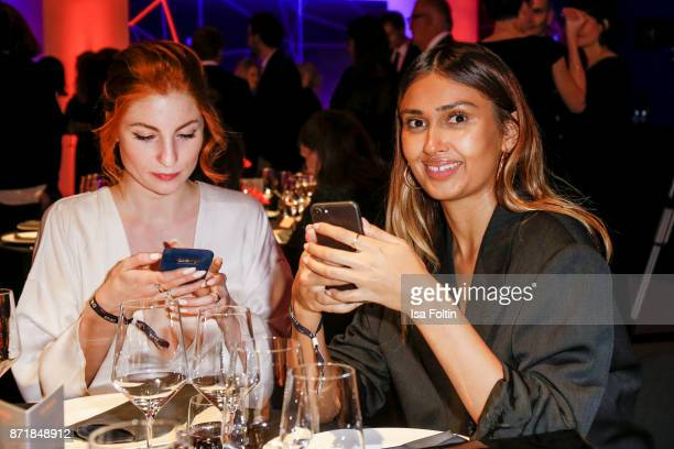 Lisa Banholzer and Wana Limar attend the Volkswagen Dinner Night prior to the GQ Men of the Year Award 2017 on November 8 2017 in Berlin Germany
