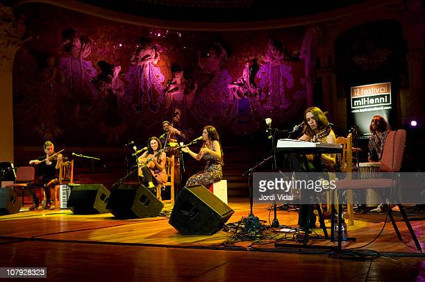Lisa Bause Marta Robles Silvia Perez Cruz and Isabelle Laudenbach of Las Migas performs on stage during Festival del Millenni at Palau De La Musica...