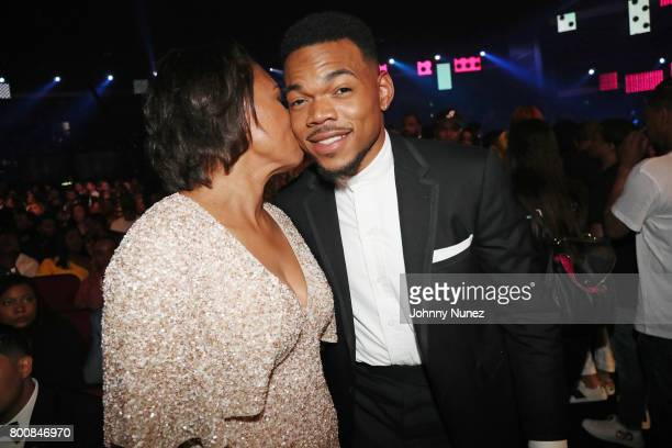 Lisa Bennett and Chance the Rapper at 2017 BET Awards at Microsoft Theater on June 25 2017 in Los Angeles California