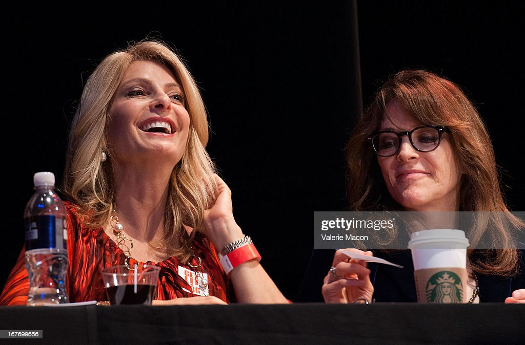 Lisa Bloom and Marianne Williamson attend Get Lit Presents The 2nd Annual Classic Slam at Orpheum Theatre on April 27, 2013 in Los Angeles, California.