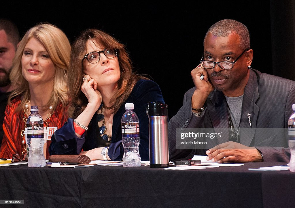 Lisa Bloom, Marianne Williamson and LeVar Burton attend Get Lit Presents The 2nd Annual Classic Slam at Orpheum Theatre on April 27, 2013 in Los Angeles, California.