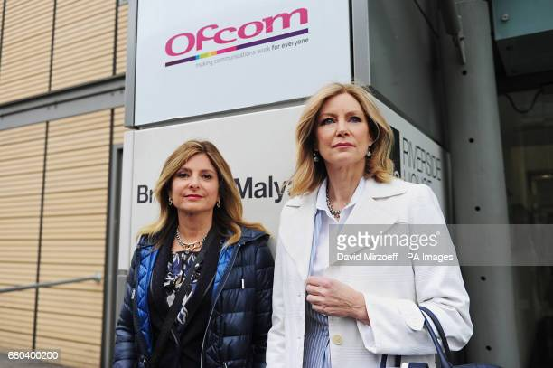 Lisa Bloom with Dr Wendy Walsh arriving at Ofcom in London to issue a warning over Rupert Murdoch's bid for Sky