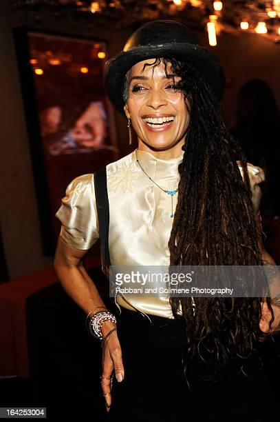 Lisa Bonet attends the Zoe Kravitz For Swarovski Crystallized Launch at Gramercy Park Hotel Rooftop on March 21 2013 in New York City
