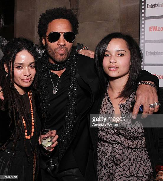 Lisa Bonet Lenny Kravitz and Zoe Kravitz at Entertainment Weekly's Party to Celebrate the Best Director Oscar Nominees held at Chateau Marmont on...
