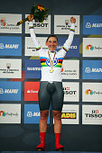 Lisa Brennauer of Germany celebrates winning the Elite Women's Time Trial during day three of the UCI Road World Championships on September 23 2014...