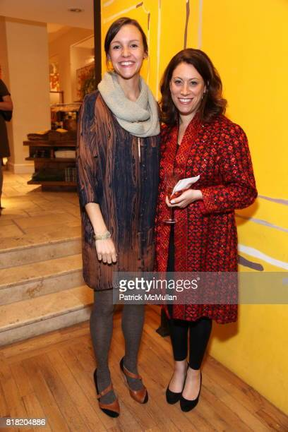 Lisa Burke and Amy Choyne attend Anthropologie Hosts US Book Launch of BLOW BY BLOW at Anthropologie at Rockefeller Center on November 3 2010 in New...