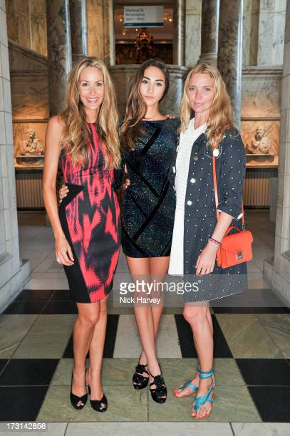 Lisa Butcher Amber Donoso and Jodie Kidd attend the Club To Catwalk London Fashion In The 1980's exhibition at Victoria Albert Museum on July 8 2013...