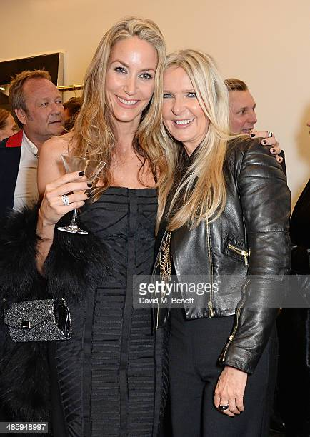 Lisa Butcher and Amanda Wakeley attend the launch of the Amanda Wakeley London flagship store on January 30 2014 in London England