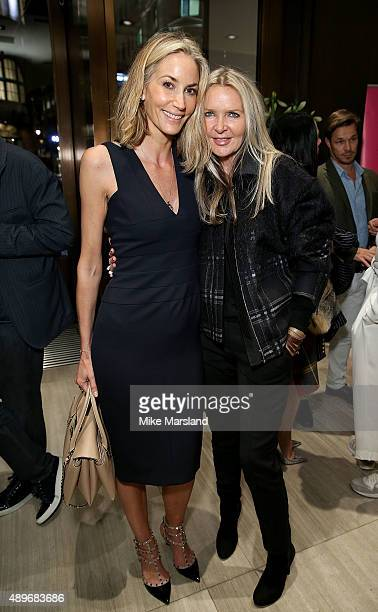Lisa Butcher and Amanda Wakeley attend The Prince Princess Of Wales Hospice charity event at Watches of Switzerland on September 23 2015 in London...