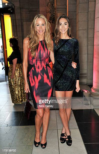 Lisa Butcher and Amber Donoso attend the Club To Catwalk London Fashion In The 1980's exhibition at Victoria Albert Museum on July 8 2013 in London...