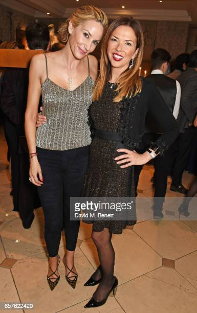 Lisa Butcher and Heather Kerzner attend Lisa Tchenguiz's party hosted by Fatima Maleki in Mayfair on March 24 2017 in London England