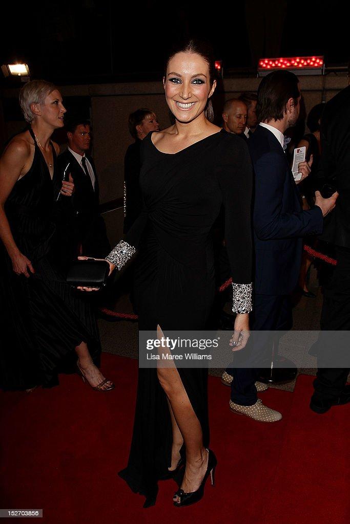 Lisa Campbell arrives at the 2012 Helpmann Awards at the Sydney Opera House on September 24, 2012 in Sydney, Australia.