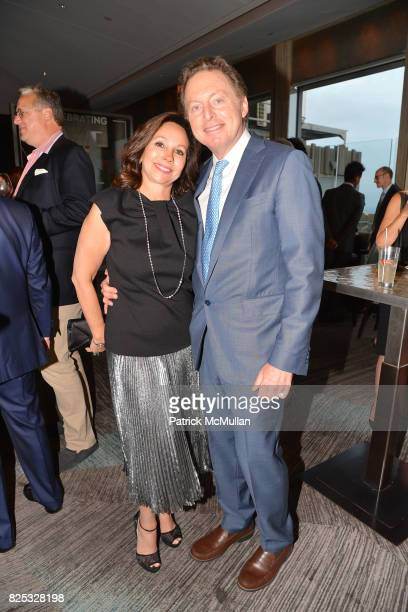 Lisa Cohen and James Cohen attend Magrino PR 25th Anniversary at Bar SixtyFive at Rainbow Room on July 25 2017 in New York City