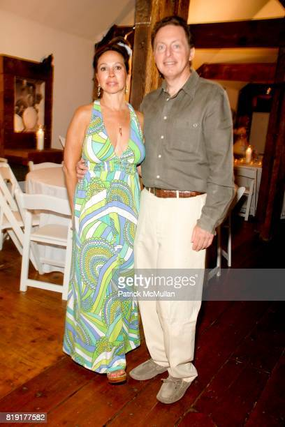 Lisa Cohen and James Cohen attend Traditional Home 'Barnbake' at Nova's Art Project on July 23 2010 in Water Mill NY