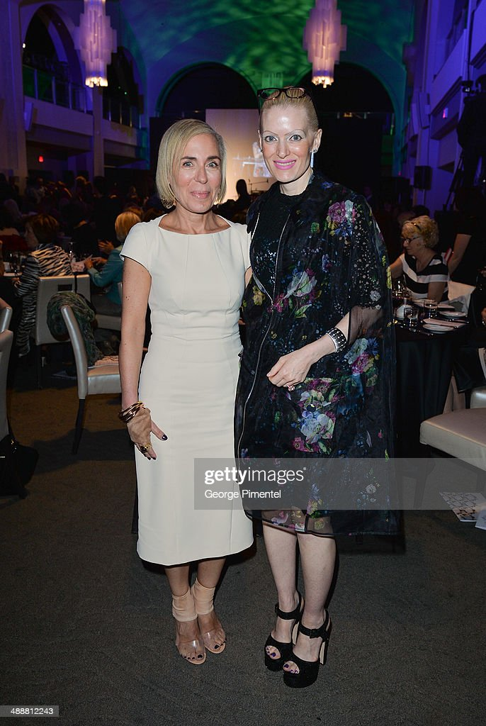 Lisa Corbo and Katherine Newman attend the Believe In Fashion Presents Erdem at Arcadian Court on May 8, 2014 in Toronto, Canada.