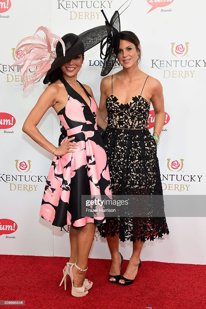 Lisa Cunningham and Alexandra Lippin attend the 142nd Kentucky Derby at Churchill Downs on May 07 2016 in Louisville Kentucky