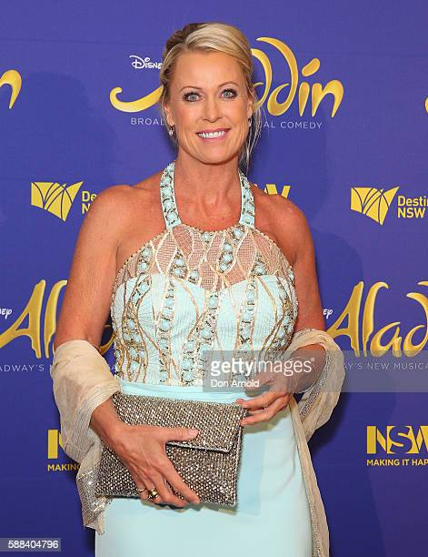 Lisa Curry arrives at the Opening Night of Aladdin at State Theatre on August 11 2016 in Sydney Australia