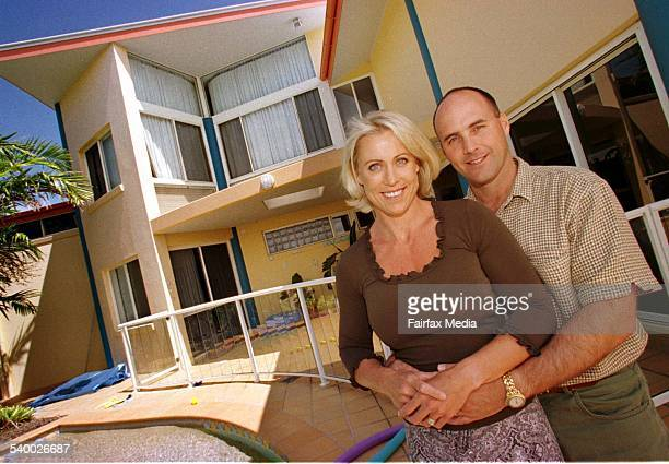 Lisa CurryKenny and Grant Kenny at home on the Sunshine Coast Queensland 20 September 1999 AFR Picture by ROBERT ROUGH