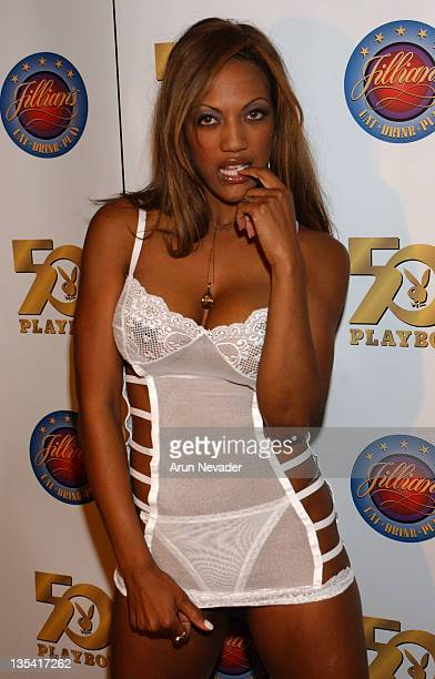 Lisa Custard during Playboy's 50th Anniversary Playmate Search Fashion Show and Photo Call at Jillian's in Universal City California United States
