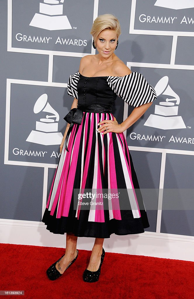 Lisa D'Amato attends the 55th Annual GRAMMY Awards at STAPLES Center on February 10, 2013 in Los Angeles, California.
