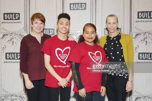Lisa Danser and Lori Klinger visit Build to discuss their program 'Rosie's Theater Kids' at Build Studio on August 8 2017 in New York City