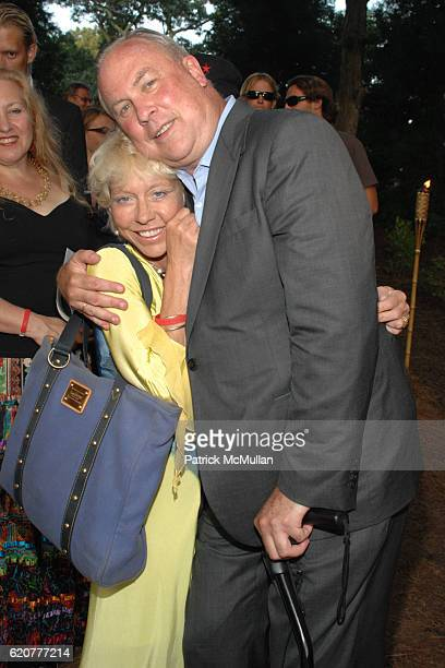 Lisa de Kooning and Robert Wilson attend The 15th Annual WATERMILL Summer Benefit at The Watermill Center on July 26 2008 in Watermill NY