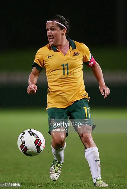 Lisa De Vanna of the Matildas controls the ball during the international women's friendly match between the Australian Matildas and Vietnam at WIN...