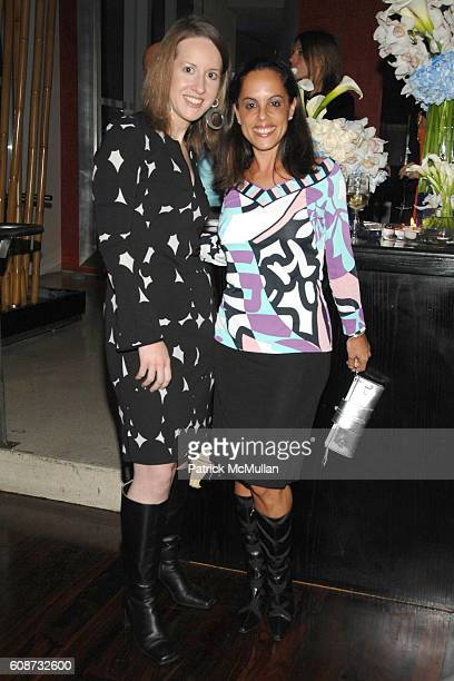 Lisa Dombroski and Lesley Abravanel attend MANDARIN ORIENTAL HOTEL GROUP Party for the SOTHEBY'S Contemporary Asian Art Exhibition at The Mandarin...