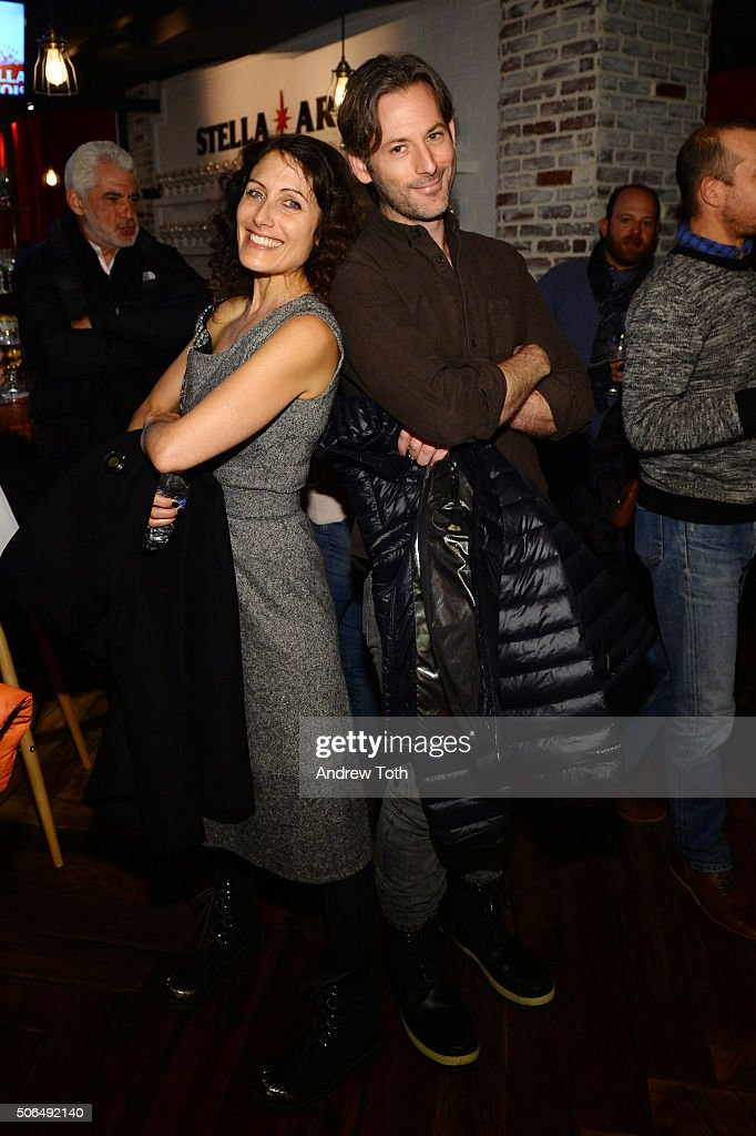 Lisa Edelstein and Jeff Baena attend Stella Artois Filmmaker Lounge presents 'Joshy' supper on January 23 2016 in Park City Utah