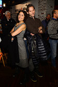 Lisa Edelstein and Jeff Baena attend Stella Artois Filmmaker Lounge presents 'Joshy' supper on January 23 2016 in Park City Utah