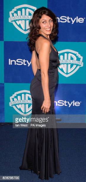 Lisa Edelstein arrives at the In Style Magazine and Warner Bros Studios post Golden Globes party at the Beverly Hilton Hotel Los Angeles USA Monday...