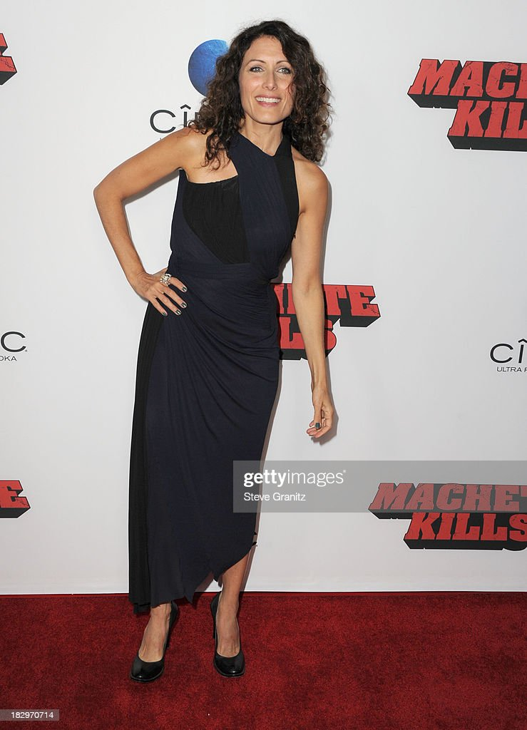 Lisa Edelstein arrives at the 'Machete Kills' - Los Angeles Premiere at Regal Cinemas L.A. Live on October 2, 2013 in Los Angeles, California.