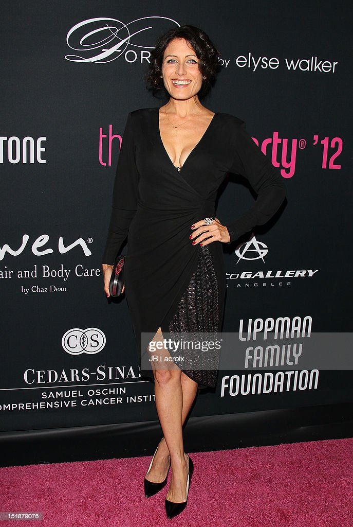 Lisa Edelstein attends the 8th Annual Pink Party at Barkar Hangar on October 27, 2012 in Santa Monica, California.