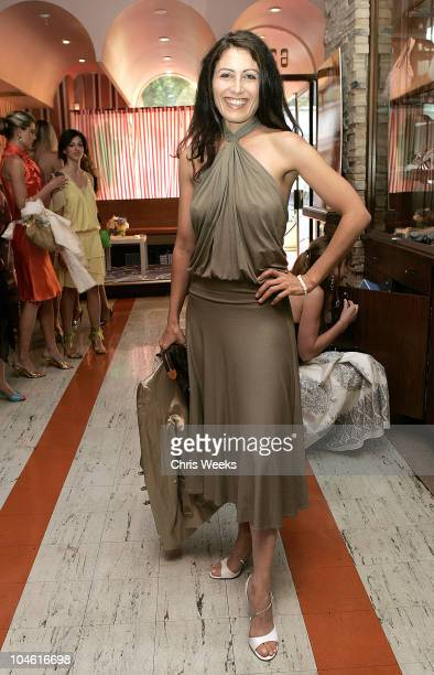 Lisa Edelstein during Lucky Magazine Host Party for Hollywould Shoes at Star Shoes at Star Shoes in Hollywood California United States