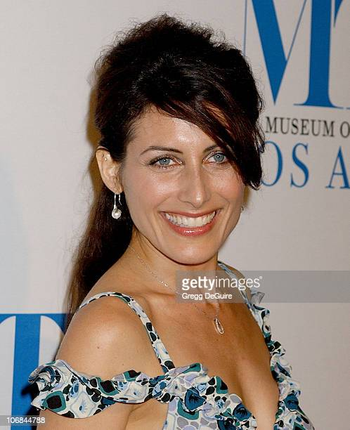 Lisa Edelstein during The Museum of Television Radio Honors Peter Chernin and John Wells at its Annual Los Angeles Gala Arrivals at Beverly Hilton...