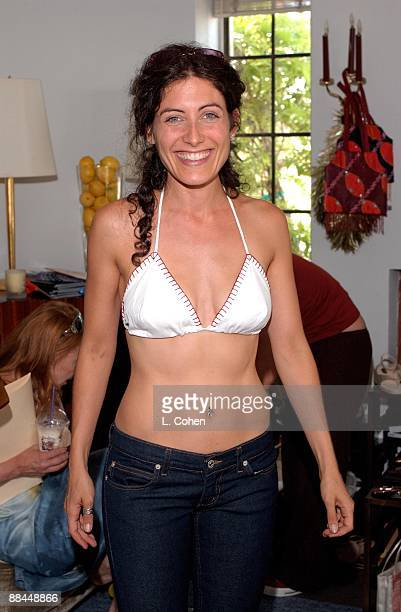 Lisa Edelstein enjoying a 'day of indulgences' in the Juicy Couture suite at the Chateau Marmont in Hollywood