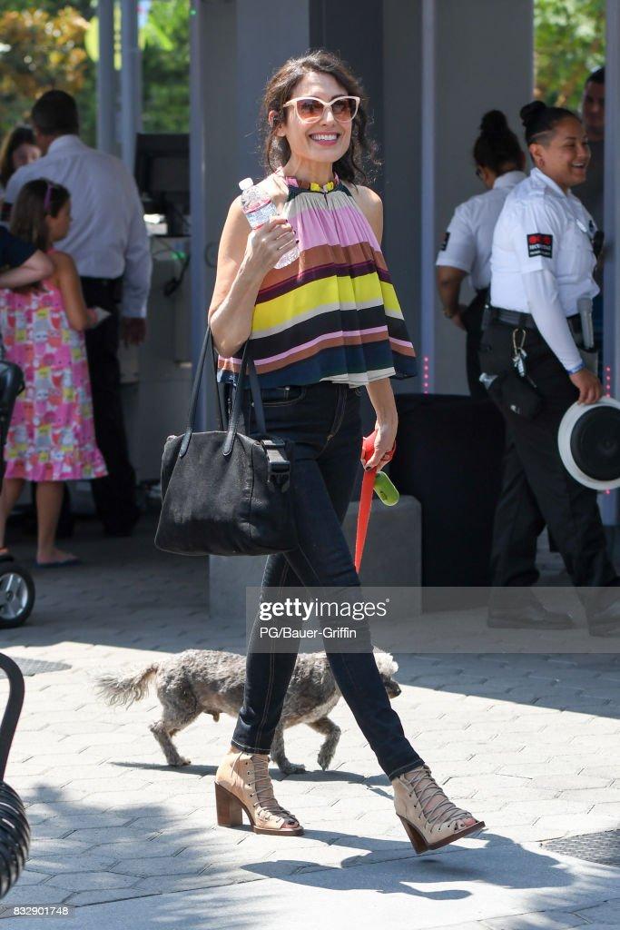 Lisa Edelstein is seen on August 16, 2017 in Los Angeles, California.