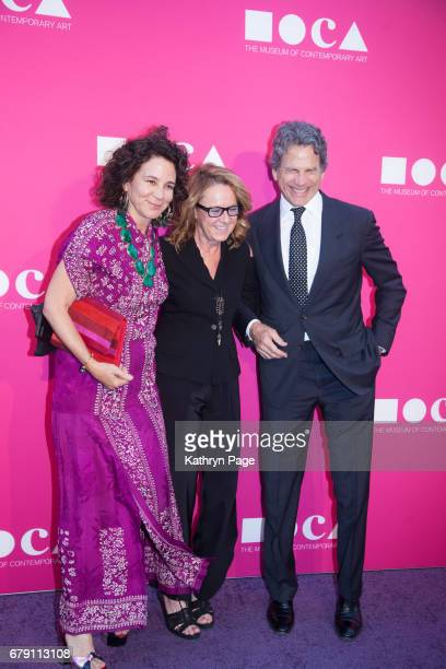Lisa EisnerAnnie Philbin andEric Eisner attend The Museum of Contemporary Art Los Angeles Annual Gala at The Geffen Contemporary at MOCA on April...