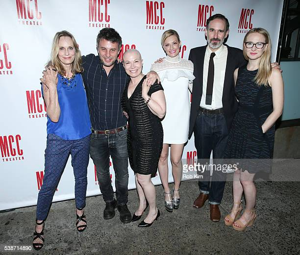 Lisa Emery Trip Cullman Jacqueline Sydney Beth Behrs Erik Lochtefeld and Halley Feiffer attend the opening night afterparty for 'A Funny Thing' at...