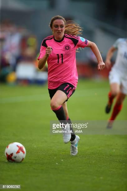 Lisa Evans of Scotland Women during the UEFA Women's Euro 2017 match between England and Scotland at Stadion Galgenwaard on July 19 2017 in Utrecht...