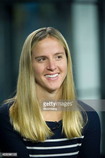 Lisa Falzone chief executive officer and founder of Revel Systems Inc smiles during a Bloomberg West Television interview in San Francisco California...