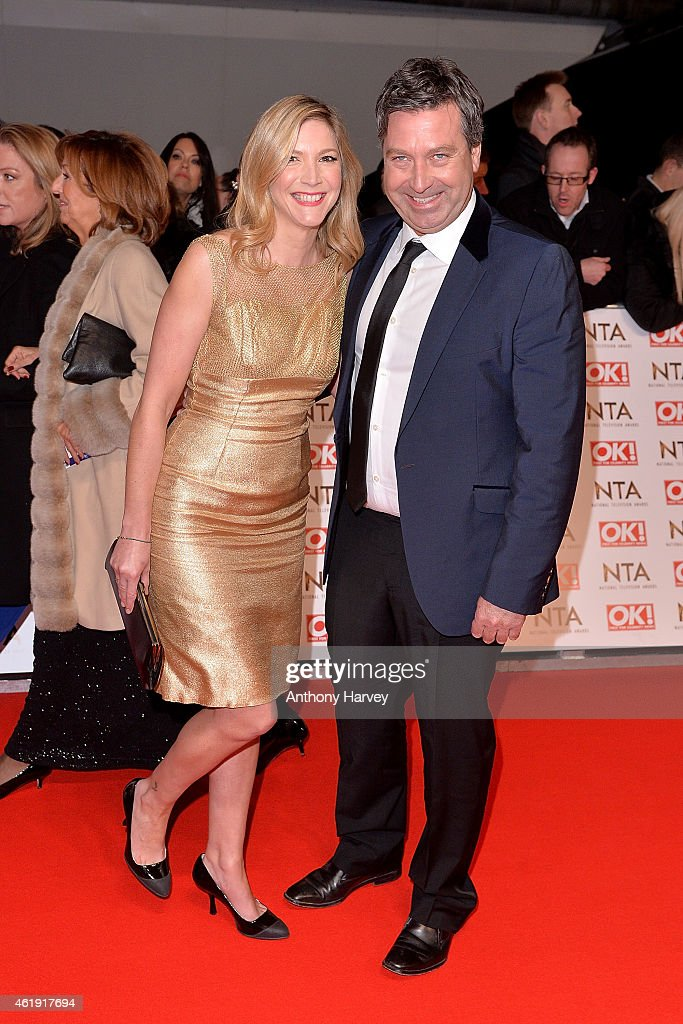 Lisa Faulkner and John Torode attend the National Television Awards at 02 Arena on January 21 2015 in London England