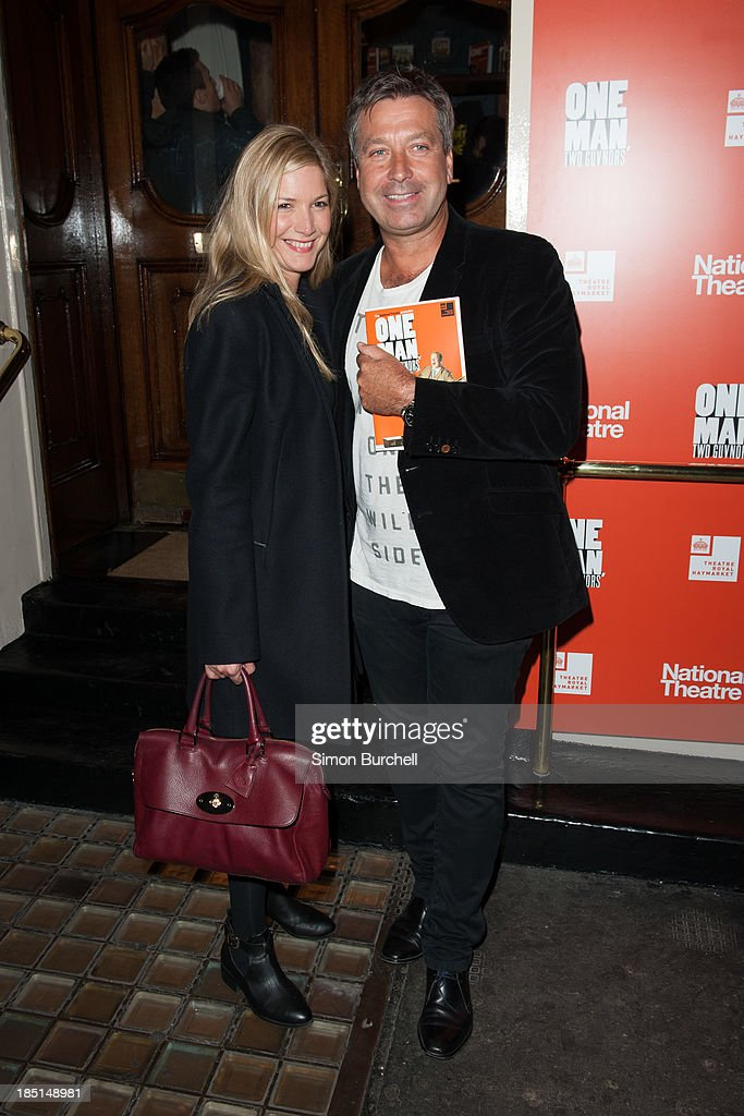 <a gi-track='captionPersonalityLinkClicked' href=/galleries/search?phrase=Lisa+Faulkner&family=editorial&specificpeople=239146 ng-click='$event.stopPropagation()'>Lisa Faulkner</a> and John Torode attends the press night for the new cast of 'One Man, Two Guvnors' at Theatre Royal on October 17, 2013 in London, England.