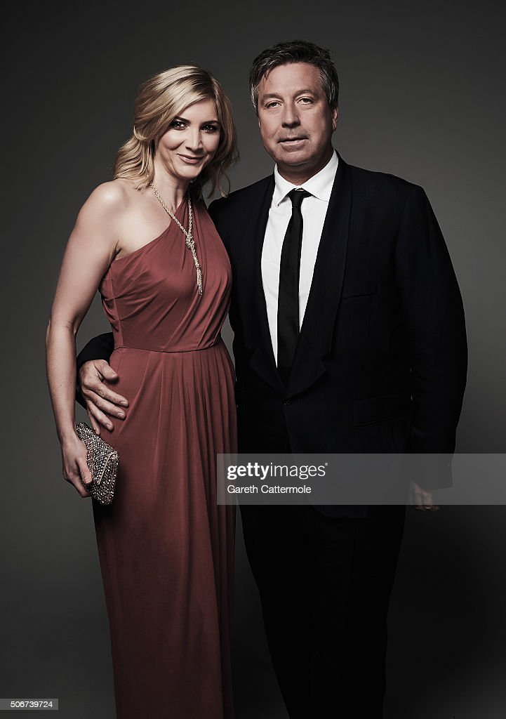 Lisa Faulkner and John Torode pose in the Portrait Studio during the 21st National Television Awards at The O2 Arena on January 20 2016 in London...